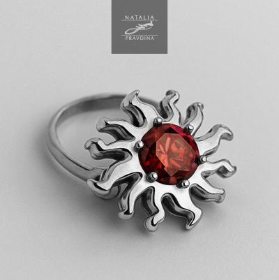 june-metal-ring-red